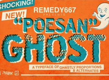 Poesan Ghost Font