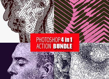 Photoshop 4in1 Actions Bundle V6