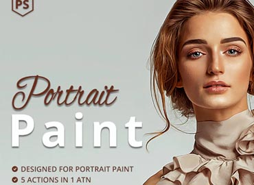 5 Portrait Paint Photoshop Actions