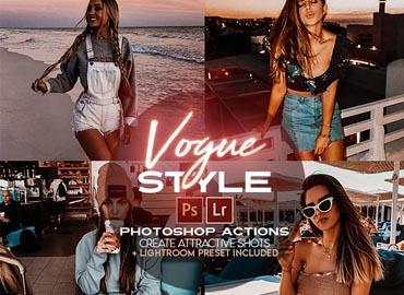 Vogue Style Photoshop Actions + LR Presets
