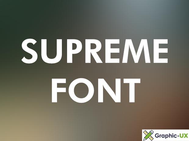 Supreme Font Free