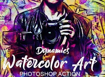 Dynamics Watercolor Art Photoshop action