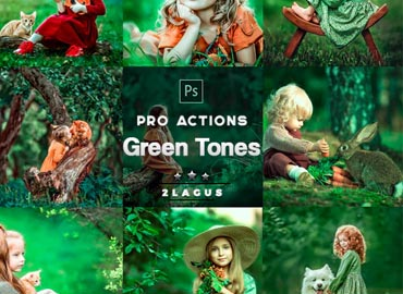 Green Tones Photoshop Actions