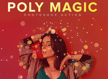 Poly Magic Photoshop Action