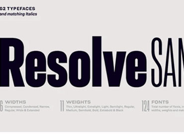 Resolve Sans Font Family