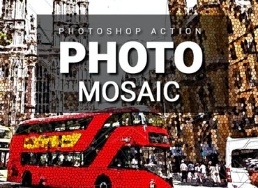 Photo Mosaic Photoshop Action