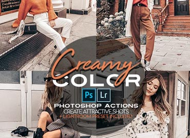 Creamy Photoshop Action + LR Presets