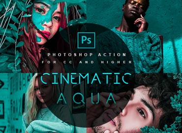 Cinematic Aqua - Photoshop Action