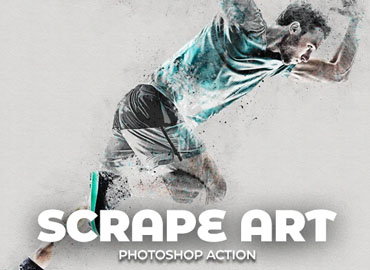 Scrape Art Photoshop Action