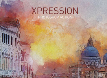 XPRESSION Watercolor Painting PS Action