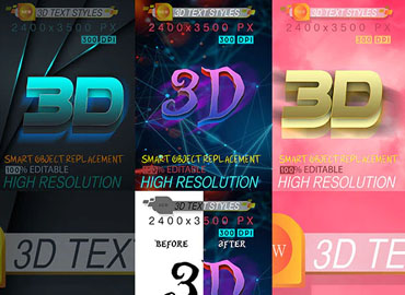 Bundle Mix 3D Text Effect 12_9_20