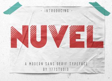 Nuvel Modern Sans Serif Font