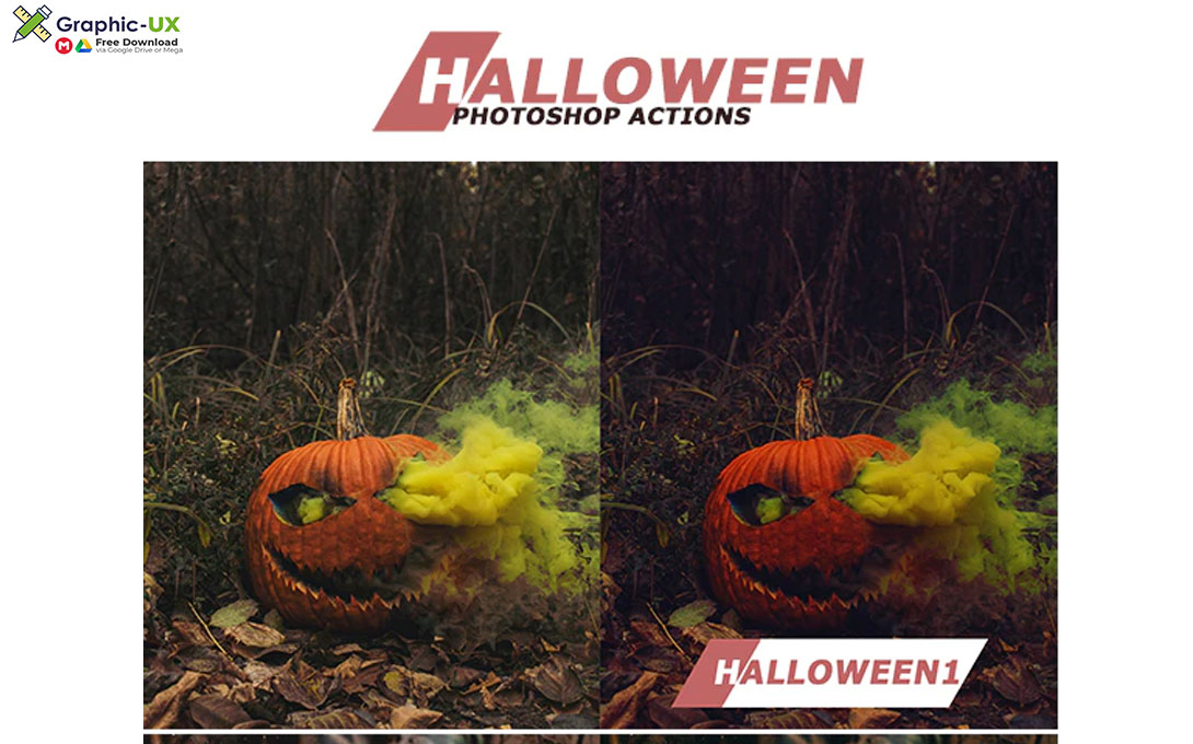 Halloween Photoshop Actions