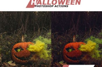 Halloween Photoshop Actions