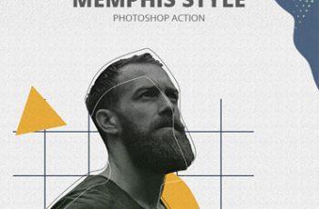 Memphis Style Photoshop Action