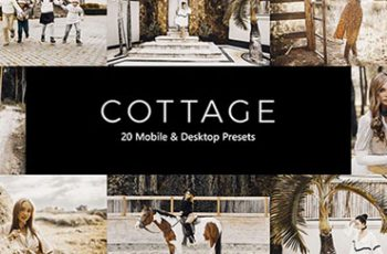 20 Cottage Lightroom Presets & LUTs