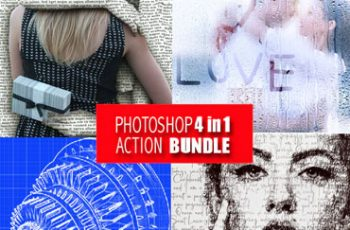 Photoshop 4in1 Actions Bundle V 7