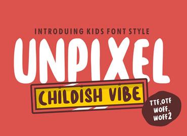 Unpixel Playful Kids Font