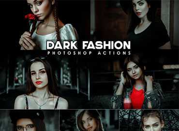 Urban black Fashion Photoshop Actions