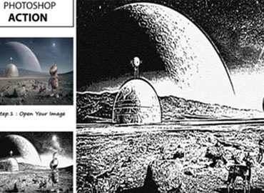 Graphic Novel Illustrations PS Action