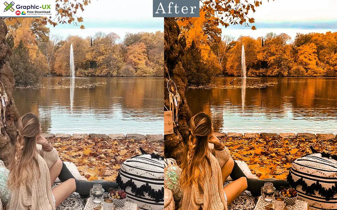 Autumn Lightroom Presets mobile and Desktop