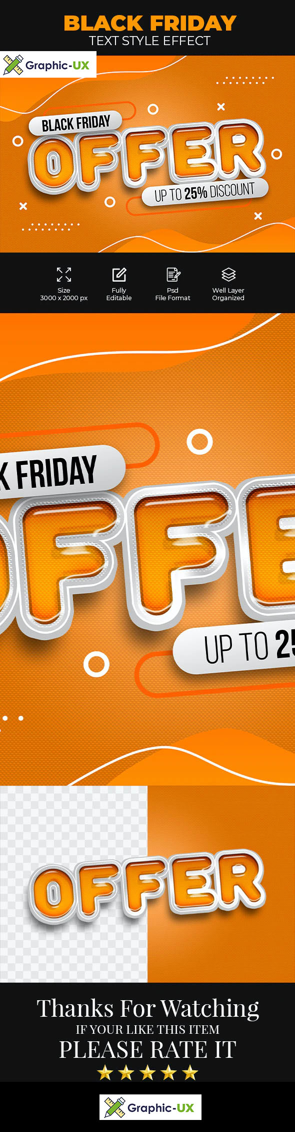 Black Friday Offer Psd Text Style Effect