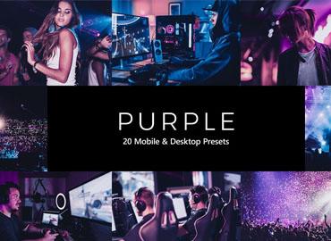 20 Purple Lightroom Presets & LUTs