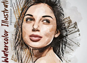 Watercolor Illustration Photoshop Action