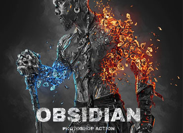 Obsidian Photoshop Action