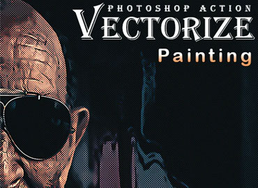 Vectorize Painting Photoshop Action