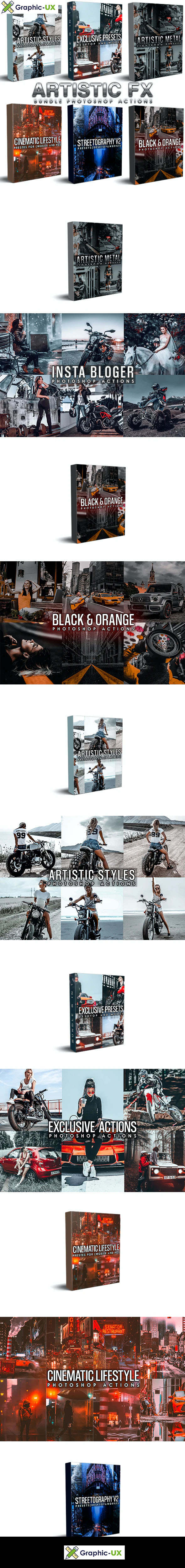 Artistic Bundle (6 in 1) Photoshop Actions