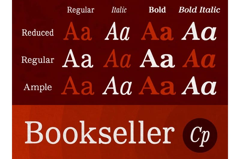 Bookseller Cp Reduced Font