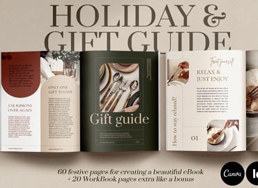 Holiday Gift Guide / CANVA, InDesign