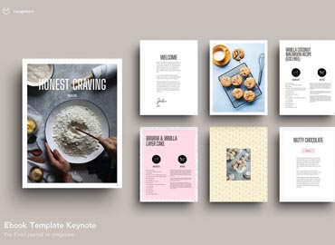 EBOOK Template Food 23 Pages