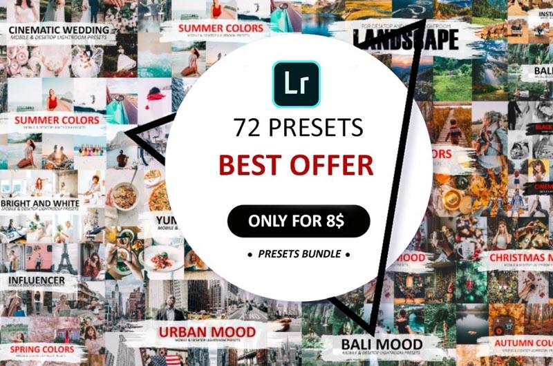 72 Preset Pack For Lightroom