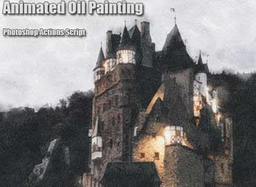 Animated Oil Painting Photoshop Add-on