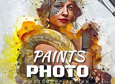 Photo Paints Photoshop Action
