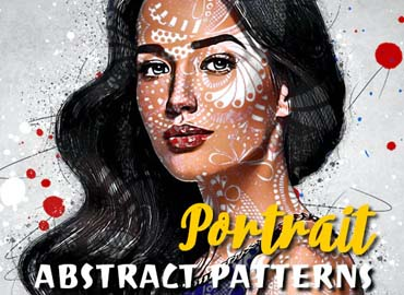 Abstract Patterns Portrait Photoshop Action