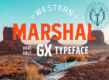 Marshal Variable Typeface