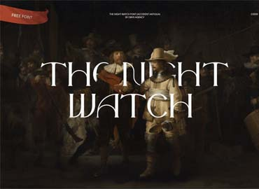 The Night Watch Display Font
