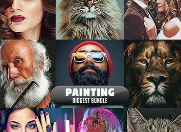 Painting Biggest Bundle - 10 Photoshop Actions
