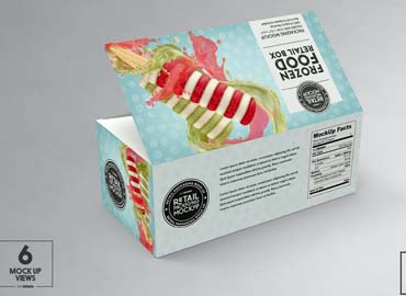 Big Frozen Food Box Packaging Mockup