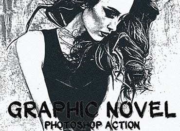 Graphic Novel Photoshop Action