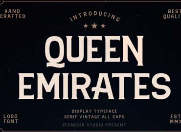 Queen Emirates Font