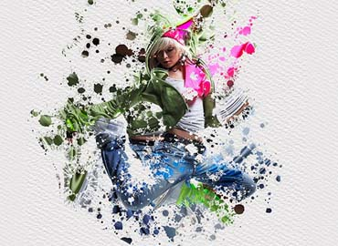 Splatter Dispersion - Photoshop Action