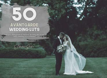 50 Avantgarde Wedding LUTs Pack