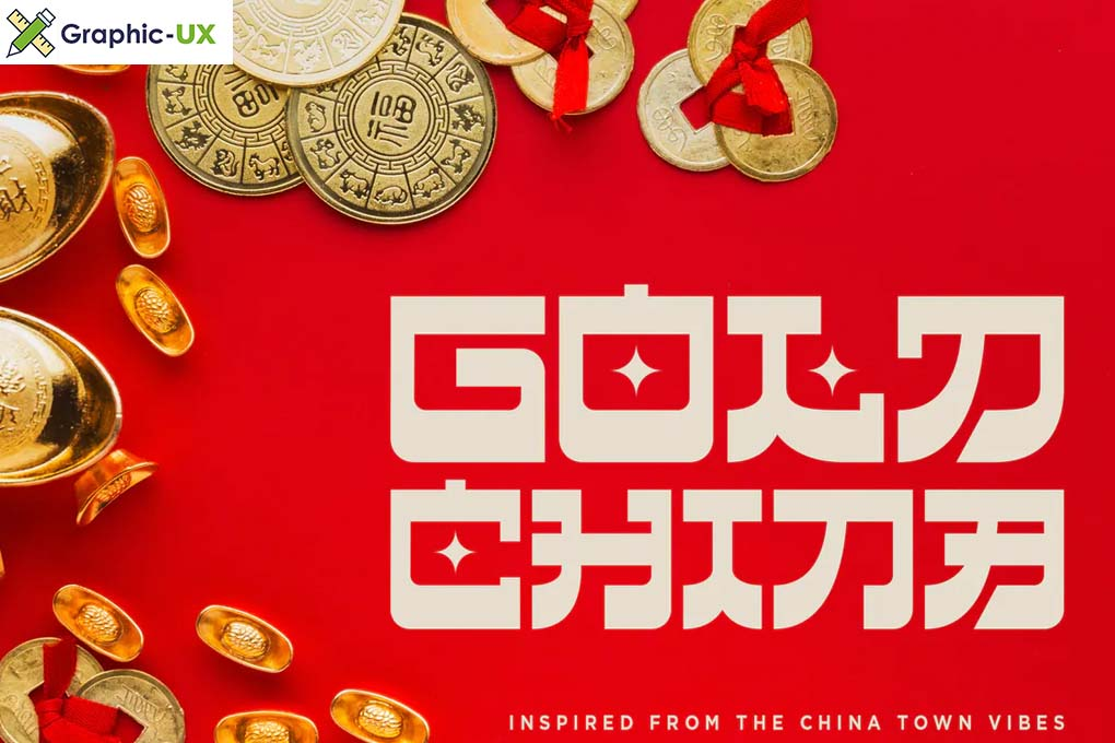 Gold China - Chinese Inspired Fonts