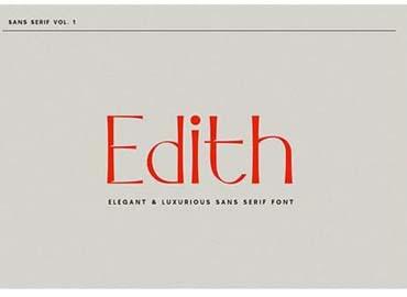 Edith Sans Serif Font
