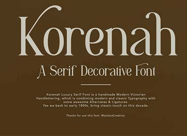 Korenah Serif Decorative Display
