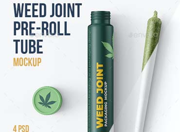 Weed Joint Pre-Roll Tubes 4 PSD